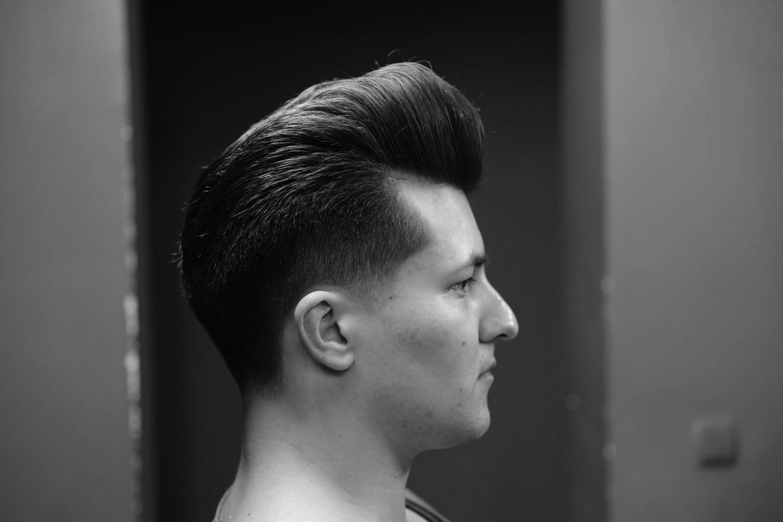 Pompadour - men`s haircut